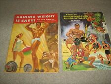 2 Lot Joe Weider Eating for SUPER-MUSCLES SUPER VITALITY/Gaining Weight Is Easy
