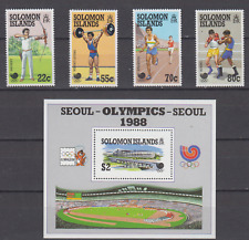 SOLOMON ISLANDS 1988 OLYMPIC GAMES SET & MINATURE SHEET MINT NEVER HINGED