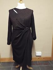 Marks & Spencer Size 18 Regular Long Sleeved Copper Dress New With Tags