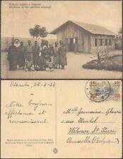 Belgian Congo 1924 - Postcard to Brussels Belgium D30
