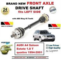 Pour Audi A4 Berline Break 1.8 T Quattro 1994-2001 Neuf Avant Axe Gauche Arbre