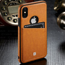 SLIM Luxury Leather Back Card Slot Thin Case Cover for iPhone XR XS MAX 8/7 Plus