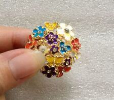 Free Shipping Crystals Fashion Flower Butterfly Party Rings Jewelry for Women