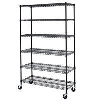 """72""""x48""""x18"""" Commercial 6 Tier Shelf Adjustable Steel Wire Metal Shelving Rack"""