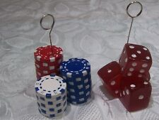 2 Dice Photo or Balloon Holder Casino Vegas Gambling Party Accessory Decoration