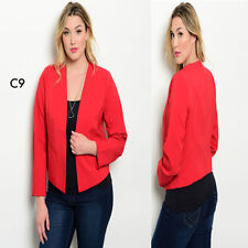 C9 New Womens Red Plus Size 12/14 Long Sleeve Blazer Vests Jackets Work Office