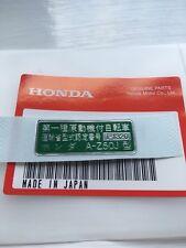 Honda Z50 Z50J Monkey Bike Registered Plate Decal