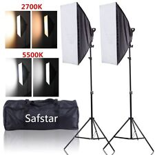 Safstar LED Continuous Lighting Kit Photo Video Studio Photography Softbox LED 2