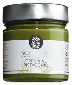 4,45€/100g - Crema al Pistacchio - süße Pistaziencreme -200 g-Scyavuru-Pistazien