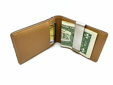 Money Clip Genuine Leather Wallet Bifold Card Holder ID 4 card slots - with box