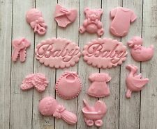 14 Pink baby girl christening edible cupcake toppers by Emma,