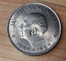 1964 India 1 Rupee Jawaharlal Nehru