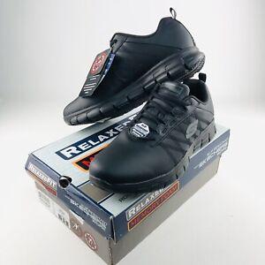 Skechers Womens 11 US Work Relaxed Fit Sure Track Erath Shoe Black Memory Foam