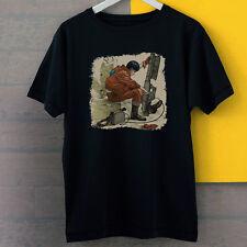 Akira Kaneda With Gun Figures Anime Inspired New Black Tees T-Shirt S-3XL
