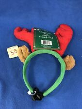 Reindeer Pet Antlers Headband for Dogs Christmas Holiday Plush
