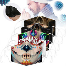 1-5PCS Funny Reusable Facemask Half Face Mark HipHop Cospaly Party One Size Mask