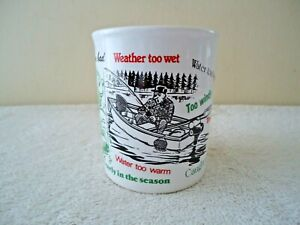 """Vintage Made In England Fishermans Excuse Mug """" BEAUTIFUL COLLECTIBLE GIFT ITEM"""