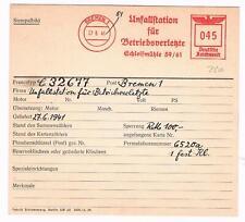 Bremen 1941 Unfallstation für Betriebsverletzte  AFS Archivkarte Unikat