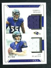 2018 National Treasures Jersey Non Auto Terrell Suggs Joe Flacco /99