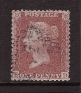 1854 Penny Red Star, Blued paper, Large crown perf 14 VERY FINE USED SG 29 ED