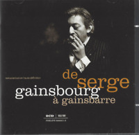 DOUBLE ALBUM CD DE SERGE GAINSBOURG A GAINSBARRE   2900