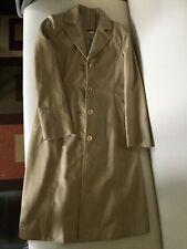 Stylish Beige classic elegant leather coat size S