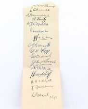 1936-1937 ASHES TOUR. 15 ENGLISH SIGNATURES. AMES, HAMMOND, VERITY, VOCE ETC