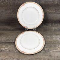 Royal Doulton DARJEELING H5247 Dinner Plates English Bone China Floral Set of 2