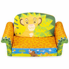 Marshmallow Furniture 2-in-1 Flip Open Couch Bed Kid's Furniture, The Lion King