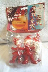 Vintage Walco Christmas Ornament Kit # 3443 Christmas Elves
