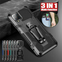 For Samsung A51 A71 A12 A32 A21S A41 A02S Shockproof Rugged Armor Case With Clip