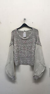 Free People Honey Cable Pullover Size S {Z148}