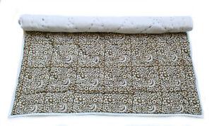 Jaipuri quilt Handmade Cotton quilt Coverlet 100% Cotton Filled B8
