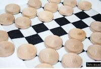 25 50 or 100pcs Unfinished DIY Wooden Game Checkers Stackable Checker Pieces