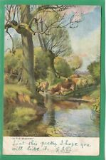 IN THE MEADOWS * COUNTRY CHARMS * R.TUCK *OILETTE * G. PRETTY* 1400* C108