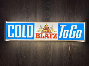 """Vtg Blatz Beer / COLD TO GO Light Up Sign / Milwaukee Brew Appx 25"""" x 6"""""""
