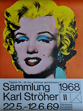 Andy Warhol 1969!!! Marilyn original poster NEAR MINT exhibition Germany