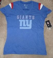 NEW NFL NY New York Giants Jersey Style T Shirt Women Ladies L Large NIKE NWT