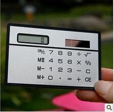 2Pc Mini Slim Credit Card Solar Power Pocket Basic 8-Digit Calculator Devices