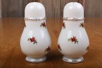Vintage Pair of White With Flower Pattern Made In Japan Salt and Pepper Shakers