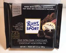 Lot 9  Ritter Sport Fine Extra Dark Chocolate 73% Cocoa from Ecuador, Natural