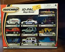 2000 Mattel Wheels Matchbox 10 pack Mega Heroes car set 92384 rare robot truck