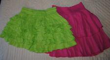 Lot 2  Aéropostale Lime Green Skirt, size Jr. Small,  'SO' Pink Skort Size 14/16