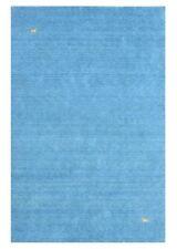 Tapis bleu indiens pour la maison en 100% laine