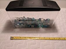 "Fish Tank Plastic 9"" With Glass Pebbles"