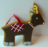 Santa's Reindeer Christmas Cookie Ornament