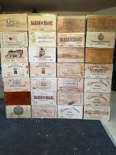 12 bottle French wooden wine box/crate.