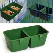 3X 2in1 Bird Parrot Food Water Bowl Cage Hanging Pet Cup Plastic Feeding Feeder