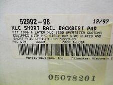 Harley Davidson OEM New short backrest pad 52992-98  #6765