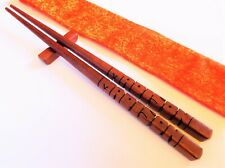 Chopsticks, Purpleheart Wood, Custom Personalized Names Carved to Order - USA